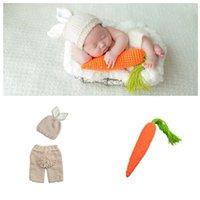 Newborn Baby Clothes Girls Boys Crochet Knit Costume Photo Photography Prop Accessories Rabbit Baby Caps Hats Roupa De Bebe 1319 Y2