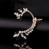 Clip-on parafuso de volta zldyou moda ouro prata banhado zircão orelha cuff mulheres casamento jóias presente earracuffs forma geométrica cristal pérola cli