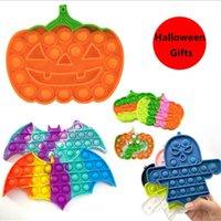 Colorido fiesta de Halloween Ghost Pumpkin Formado Toy Sensory Push Bubble Ansiety Relief Games al Por Mayor