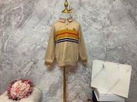 1826 BBR Baby Designer Polo Pullover Trojo de punto Sujetadores de CashMere Lana Béisbol Suéter Chaqueta Niños Invierno Carta Impresión Diseño Desgaste 100-150 Kahki