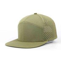 Oem Cheap Custom 7 Panel Men Blank Green Polyter Melin Style Laser Perforated Hole Hat,Snapback Trucker,Flat Brim Baseball Cap