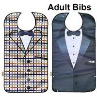 Bibs adultos impermeáveis para comer o avental lavável Protetor de roupa reusável com os homens idosos dos homens do apanhador da migalha
