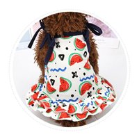 Dog Apparel Pet Fancy Clothes For Summer Dress Skirt Breathable Watermelon Supplies Shirt Lovers