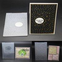 الإبداعية النقش لوحات تصميم diy ورقة قطع يموت سكرابوكينغ أدوات مجلد البلاستيك الحرفية