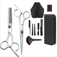 Hair Scissors 11 Pcs Professional Cutting Set Thinning Shears Razor Comb Clips Cape Hairdressing Kit Barber Home