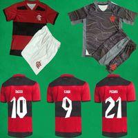 21/22 Flamengo Soccer Jersey Shorts 2021 الصفحة الرئيسية جيرسون غابي دييغو E. ريبيرو بيدرو مايلوتس القدم دي إريكايتا ب. قمصان هنريك لكرة القدم حارس مرمى الرجال + أطقم أطفال