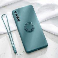 Per OPPO RENO 5 4 PRO 3 5G A9 A52 A72 A92S Trova X3 X2 Neo Lite A31 A91 Case Silicone Liquid Supporto del supporto del supporto del supporto Soft Cover Funda Cellulare Phone PO