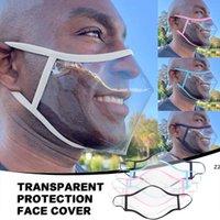 Máscara de labio transparente con válvula anti-niebla escudo de cara algodón de mariposas de mudo mute máscaras visibles anti polvo bocas HWD10197