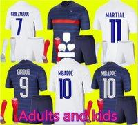 성인과 어린이 2021 2022 MBAPPE GRIEZMANN POGBA 유니폼 21 22 축구 유니폼 칸테 축구 셔츠 셔츠 Thauvin Maillot de Foot