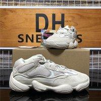 En kaliteli Rahat Kanye 500 Koşu Ayakkabıları Yumuşak Görüş Yardımcı Kara Ay Sarı Allık Taş Erkekler Bayan Açık Düz Spor Eğitmen Sneaker Kutusu