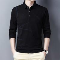 YMWMHU 새로운 패션 남자 폴로 셔츠 두꺼운 긴 소매 겨울 따뜻한 남성 의류 캐주얼 한국어 스타일 폴로 셔츠 남성 탑 210329