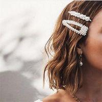 Moda Simulata Pearl Barrettes Cute Girl Hair Pins Classic Lady Capelli Clip Trucco Accessori per capelli Valentine's Day Love Gifts 476 T2