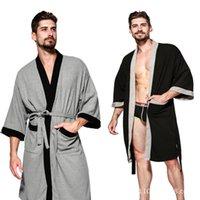 Cinco estrelas Hotel Algodão Homens Waffle Robe Roupão de banho Suor Sauna Banheira Toalha Hot Spring