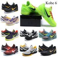 Siyah Mamba VI Prelude Tüm Yıldız MVP BHM Proto 6 Basketbol Ayakkabı Erkekler Düşünmek Pembe Spor Sneakers 40-46