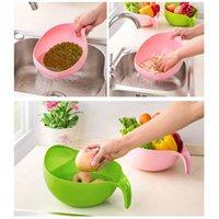 Reiswaschfilter-Siebkorb Gespeicherungssieb Obst Gemüseschale Abtropfgerät Reinigungswerkzeuge Home Kitchen Kit GWB5904
