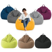 Chair Covers Linen Beanbag Sofa Cover No Filler Bean Bag Pouf Bed Futon Ottoman Seat Tatami Puff Relax Lounge Furniture Sofas