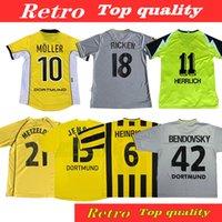 الرجعية لكرة القدم الفانيلة Rosicky Bobic Dortmund Lewandowski Koller 99 01 00 02 03 Classic 96 97 Borussia 94 95 13 13 Reus Football Shirts