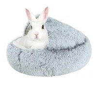 Cat Beds & Furniture Pet Bed For Cats Dogs Soft Nest Kennel Cave House Sleeping Bag Mat Pad Tent Pets Winter Warm Cozy