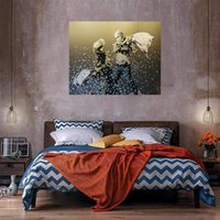 Pillow Fight Oil Painting On Canvas Home Decor Handcrafts  H...