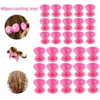 Blower Hair Curler Styling Tool Accessories 40pcs Silicone Mushroom Shape No Heat DIY Magic Roller Tools1