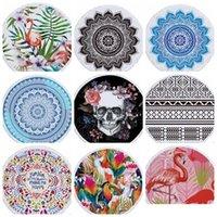 Indian Mandala Beach Towel Round Blanket Polyester Printing Tapestry Yoga Mat Summer Picnic Rug Serviette De Plage 69 Designs