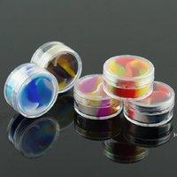 Color 10ML Acrylic Silicone Cigarette Ointment Box Cosmetic oil cream boxes Portable Pill Solid E-liquid case DHF6811