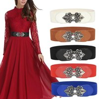 Belts Vintage Elastic Belt For Girls Dress Women Comfortable Waist Strap Decorative Wide Sealing Gold Buckle Waistband Shiny