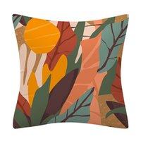 Tropical Palm Folha Folha Abstract Art Travesseiro Capa Capa Planta Printam Caixa de Descanso Decoração de Casa Sofá Capa de Almofada B3