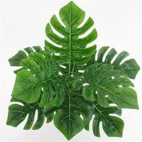 Planta artificial verde Lifelike Decoração de Casa Simulação Monstera Folhagem Folha para mesa Mesa Decoração Falso Plantas Plantas Decorativas