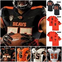 NCAA College Jerseys Oregon Estado Beavers 6 Jake Luton 8 Trevon Bradford 12 Jack Colletto 17 Isaías Hodgins Futebol Personalizado Costurado
