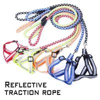 Dog Collars & Leashes Led Collar Nylon Retractable Leash Reflective Harness Night Safety Flash Light Christmas Accessories