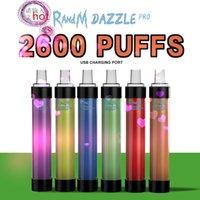 Randm Dazzle Prodisposable Vape Pen 2600 Puffs Electronic Sigaretten Apparaat Kit Bar R en M LED-licht Knippert 12 kleuren