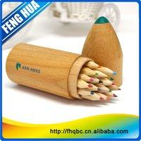 Pen 15 Mini Color cils can be put into wood rocket launcher log color environmental protection hexagonal color cils