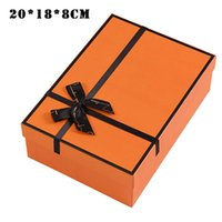 Caja de regalo de Navidad con bowknot / bolsa de papel para vacaciones envoltando decorativos envasado HVR88 WRAP
