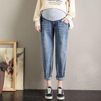 Fondos de maternidad Autumn Harem Pantalones Jeans para mujeres embarazadas Ropa Boyfriend Casual suelto Abdominal Embarazo Ropa