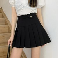 Skirts Skirt Korean Design Sense High Waist Pleated Slim Summer Short Female A-line All-match