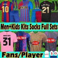 FC Barcelona Trajes para adultos y niños con calcetines 20 21 Fans+Player Version Soccer Jersey 2020 2021 Messi Griezmann Coutiniho Entrenamiento Portero Camisetas de fútbol