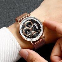 المعصم الكوارتز كوارتز الرجال الفاخرة تصميم تصميم الأعمال مضيئة رجل الساعات شبكة حزام ساعة اليد الحديثة هدية pasadores الفقرة reloj
