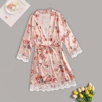 Silk cetim curta noite robe sólido quimono moda banho sexy roupão de banho peignoir casamento noiva casamento dama de honra mulheres