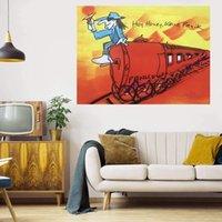 Эй, мёр, Кейн Panik Большая живопись масляными маслом на холсте домашний декор Рекрета / HD Print Wall Art Фотографии Настройка приемлема 21070617