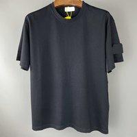 العلامة التجارية الشهيرة تيز شارة نمط الرجال القمصان بسيطة الصيف قصيرة الأكمام القطن الخالص الترفيه في الهواء الطلق الحركة الأعلى