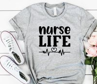 Hemşire Yaşam Bayan T Shirt Kalp Atışı Kadın Tshirt Pamuk Rahat Komik Gömlek Lady Yong Kız Üst Tee Yüksek Bırak Gemi
