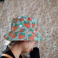 2021 نوعية جيدة الفراولة قبعات البيسبول القطن الصبار إلكتروني قناع الصيف المرأة الشمس القبعات في الهواء الطلق تعديل الأزياء تصميم لطيف دلو قبعة الرجال كاب