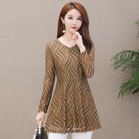 Plus Size Tops 5XL Women Blouse Chiffon Shirt 2021 Autumn Long Sleeve Lace Office Ladies Blusas Femme Clothing Women's Blouses & Shirts