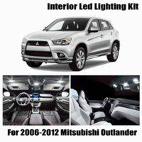 11x Canbus Hatası Ücretsiz LED İç Işık Kiti Paketi 2006-2012 Mitsubishi Outlander Araba Aksesuarları Haritası Dome Trunk Lisans Acil Lig