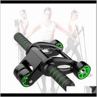 Pas de bruit Roue abdominale Route élastique Fitness Fitness Fitness AB Rouleaux à quatre roues Double rangée Roulement Roulement Ventre du ventre Muscle Force TS3G1