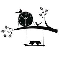 Horloges de mur numérique Cuisine moderne Cuisine Grand horloge Montre murale Salon Décoration Ferme Grande horloge avec autocollants 372 R2