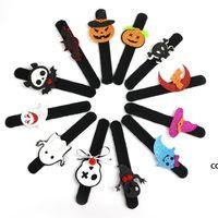 Хэллоуин шлепок браслет партии украшения летучая мышь тыква призрак формы серии Clap Plush Pu руки круговой игрушка Bangle DHB9104