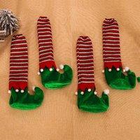 4шт рождественские ножки настольные ножки нескользящие ножные носки стул мультяшный год украшения чехлы