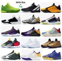 Mamba Yakınlaştırma 5 Protro Bruce Lee Ya Lakers Tucker Büyük Sahne Kaos Yüzükler Eybl Metalik Altın 6 Grinch Mamba Sonsuza Basketbol Ayakkabı Erkekler Sneakers